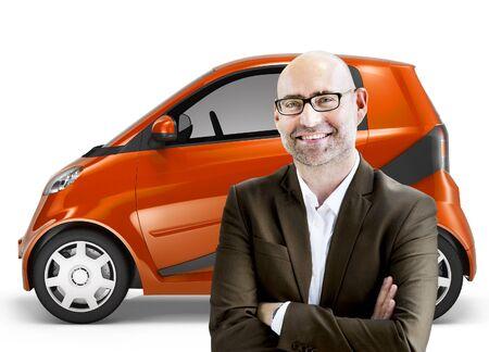 propulsion: Eco Car Vehicle Transportation 3D Illustration Concept