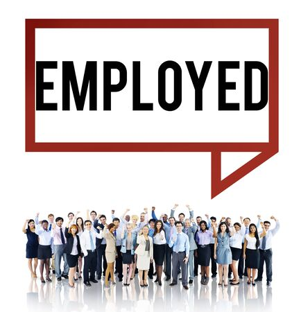 employment: Employed Recruitment Human Resources Hiring Concept Stock Photo