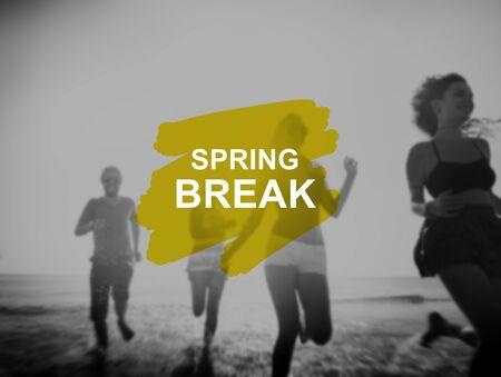 adolescence: Spring Break Beach Party Teenager Adolescence Leisure Concept