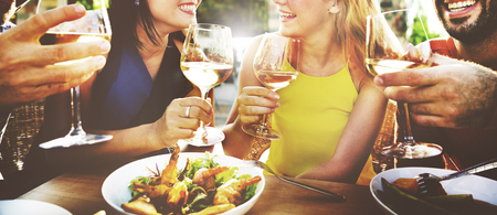 outdoors: Friend Friendship Dining Celebration Hanging out Concept