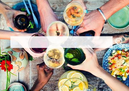 Fiesta: Alimentaci�n Saludable Tabla deliciosa comida org�nica Concepto