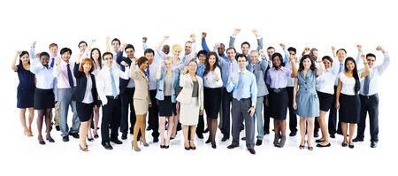 personas celebrando: Business People Celebrating Collaboration Team Concept