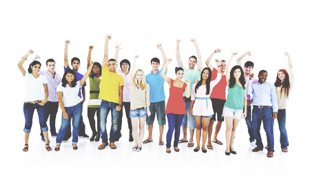 youth culture: Success People Youth Culture Together Students Cheerful Concept