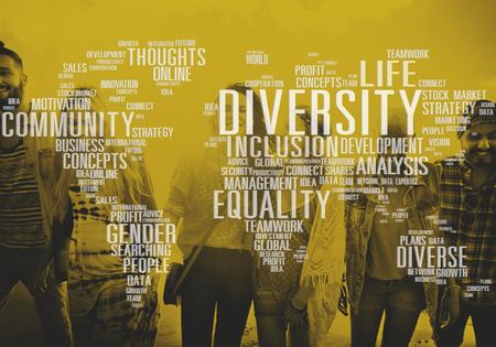 diversidad: Diverse Igualdad de Género Innovación Concepto de Gestión Foto de archivo