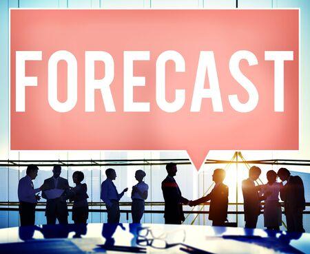 Forecast Prediction Precision Probability Future Concept Stock Photo