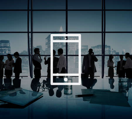office icon: Mobile Phone Mobility Wireless Technology Concept Stock Photo