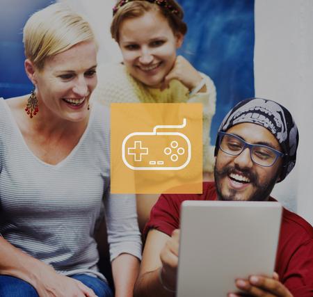 game controller: Game Controller Control Leisure Fun Technology Joystick Concept Stock Photo