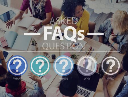 Frequently Asked Questions Asking Reply Response Concept Stock Photo
