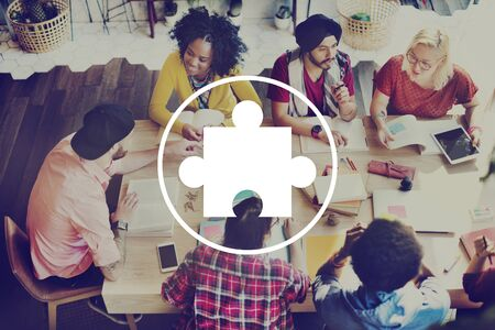 trabajando en equipo: Jigsaw Puzzle Asociación Trabajo en equipo equipo Concepto