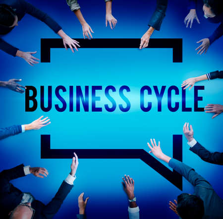 business cycle: Business Cycle Income Profit Loss Recession Concept Stock Photo