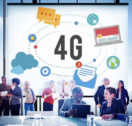 4g: 4G Telecommunication Connection Networking Mobility Concept
