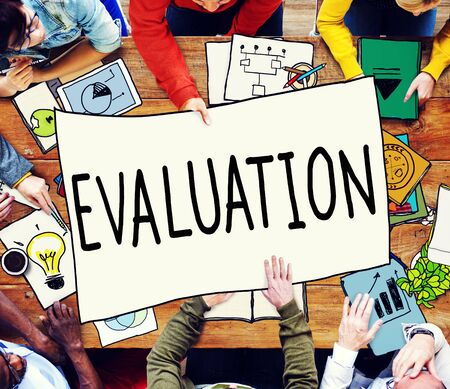 analytic: Evaluation Consideration Analysis Criticize Analytic Concept Stock Photo