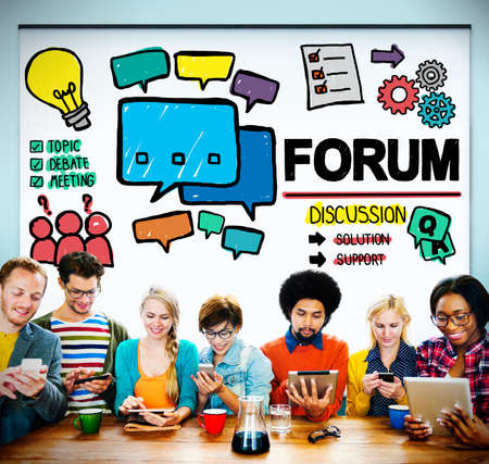 topic: Forum Chat Message Discuss Talk Topic Concept