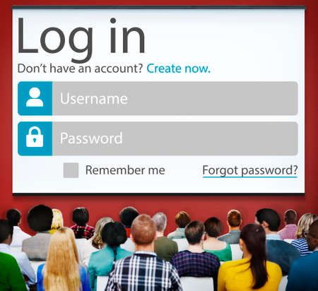log in: Log in Password Identity Internet Online Privacy Protection Concept