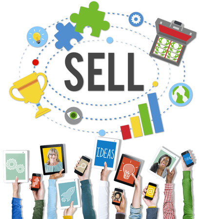 Sell Earning Money Payment Purchasing Concept Stock Photo