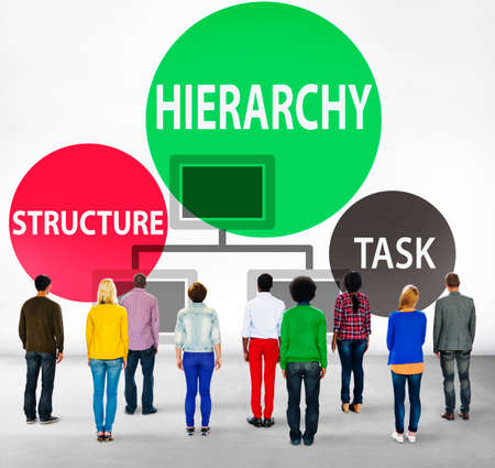 facing backwards: Hierarchy Structure Task Multilevel Employment Concept