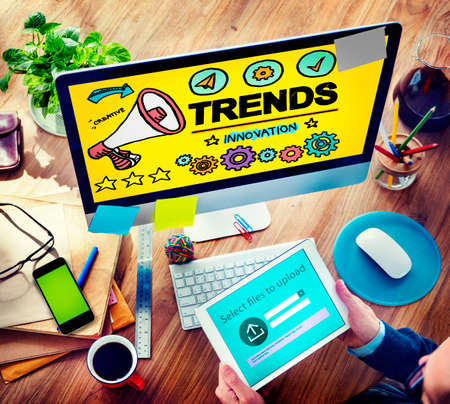 place of work: Trends Fashion Update Modern Contemporary Cocept Stock Photo