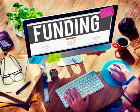 global investing: Funding Finance Fundrising Global Business Invest Concept Stock Photo