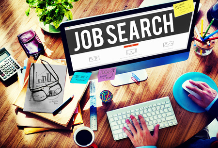 screen search: Job Search Searching Career Application Concept Stock Photo