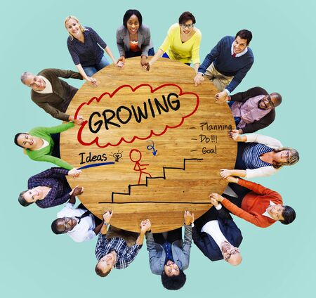 strong growth: Growing Growth Mission Success Opportunity Concept