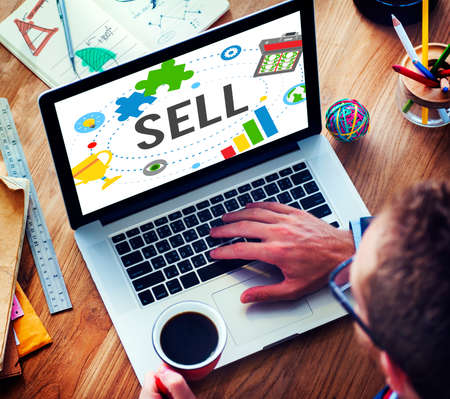 earning: Sell Earning Money Payment Purchasing Concept Stock Photo