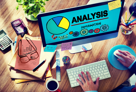 Analysis Analytics Analyze Data Information Statistics Concept Stock fotó