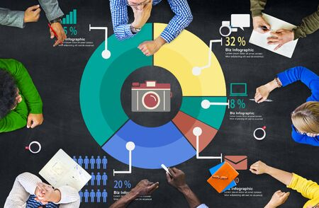 business performance: Analysis Analytic Marketing Sharing Graph Diagram Concept Stock Photo
