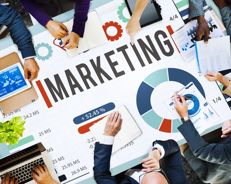 Business meeting with marketing concept Imagens