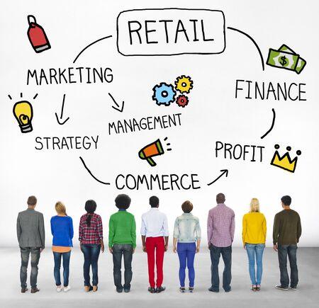 facing backwards: Retail E-commerce Marketing Investing Consumer Concept