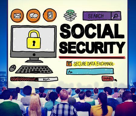seguridad social: Social Security Welfare Retirement Payment Concept