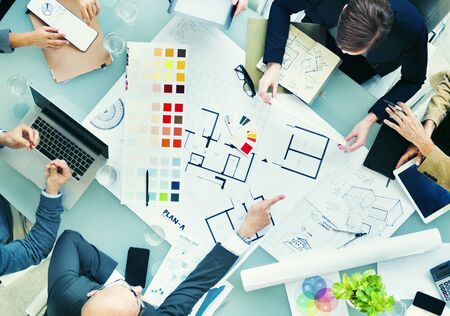 graphic designers: Design Team Planning New Project Teamwork Concept Stock Photo