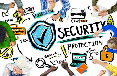 data protection: Ethnicity People Conference Discussion Security Protection Concept