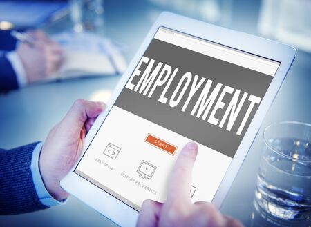 place of employment: Employment Recruitment Human Resources Hiring Concept Stock Photo