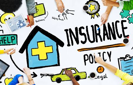 insurance policy: Diversity Casual People Insurance Policy Meeting Concept