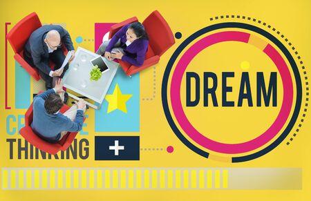 creative solutions: Dream Goal Target Aspiration Imagination Inspiration Concept