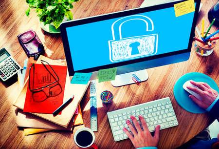 privacidad: Contraseña Privacidad Acceder sucurity Lock Guardia Concepto