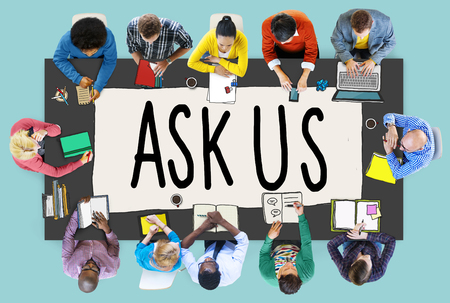 response: Ask Us Help Support Response Information Concept