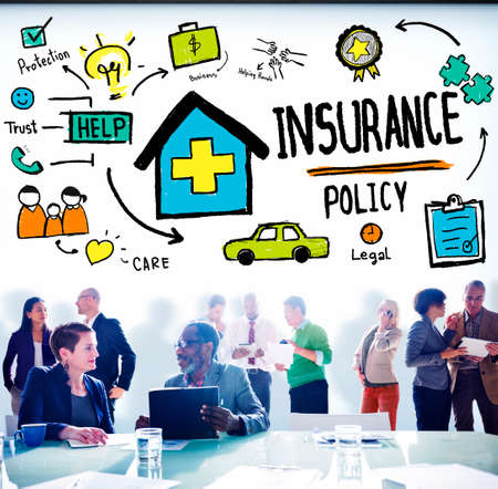 medical expenses: Insurance Policy Help Legal Care Trust Protection Protection Concept Stock Photo