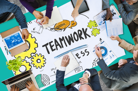 togetherness: Teamwork Team Collaboration Connection Togetherness Unity Concept