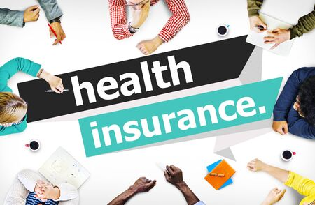 life insurance: Health Insurance Protection Risk Assessment Assurance Concept Stock Photo