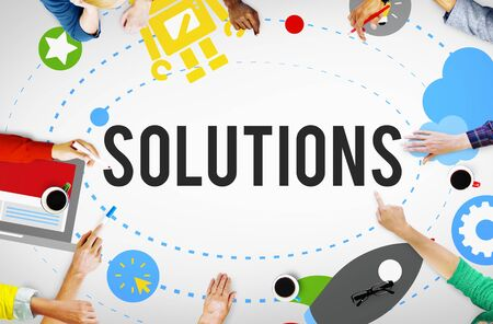 the solution: Solution Innovation Solving Progress Strategy Plan Concept Stock Photo