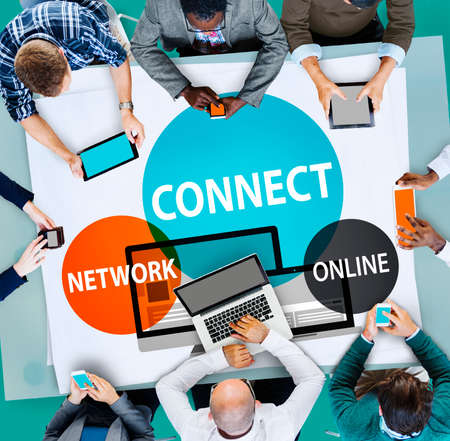 keywords link: Connect Network Integrated Online Web Concept Stock Photo