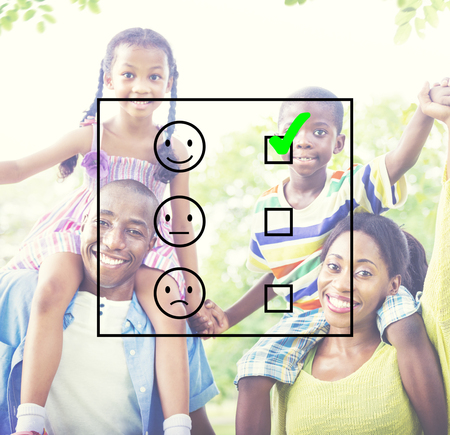 questionaire: Evaluate Evaluating Evaluation Statistics Questionaire Concept Stock Photo