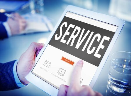 communicative: Service Loyalty Strategy Customer Help Concept