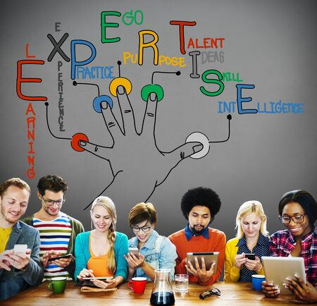 expertise: Expertise Learning Knowledge Skill Expert Concept Stock Photo
