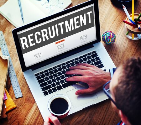 place of employment: Recruitment Employment Hiring Human Resource Concept Stock Photo