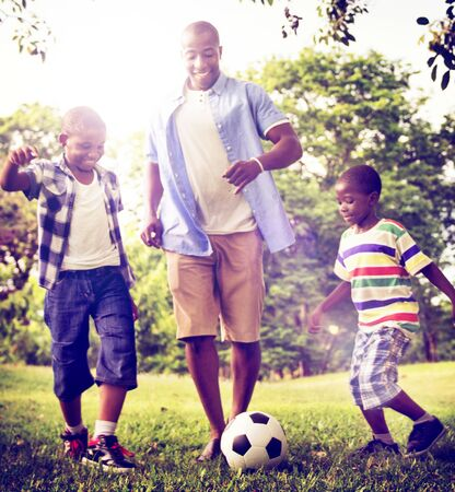 father and son: African Family Happiness Holiday Vacation Activity Concept