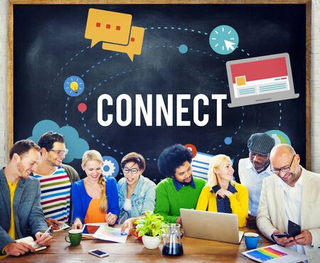 communication concept: Connect Connection Networking Communication Concept Stock Photo
