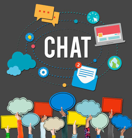 bubble talk: Chat Chatting Online Messaging Technology Concept