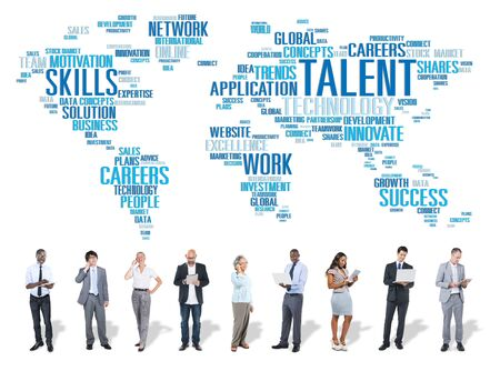 business performance: Talent Expertise Genius Skills Professional Concept